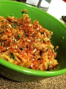 Whole Wheat Pasta with Cauliflower Sauce and Garlic Breadcrumbs (Original Photo)